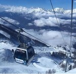 Maintenance work on the cable cars of Rosa Khutor resort (Krasnaya Polyana)